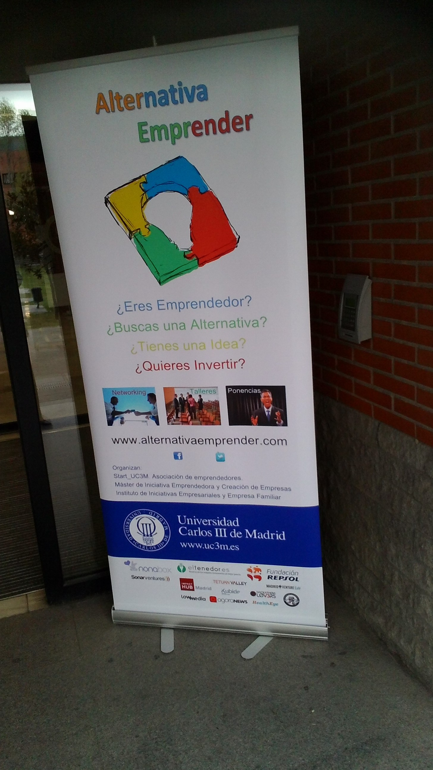 cartel alternativa emprender Universidad Carlos III Getafe
